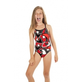 Funkita Red Raptor 1 piece Diamond Back Fille