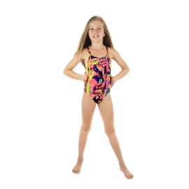 Funkita Pink Stig 1 piece Diamond Back Fille
