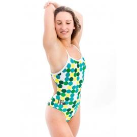 Maillot de bain Femme 1 piece Mako Aumakua New Button Green