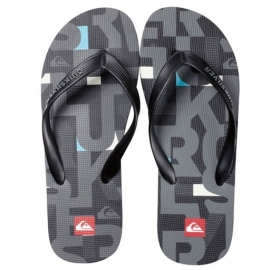 Tongues Quiksilver MOLOKAI PRINT BLACK GREY BLUE