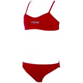 Maillot Fille 2 pieces ARENA lacy YOUTH RED,METALLIC_SILVER