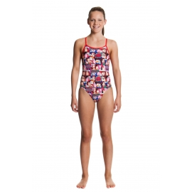 Funkita Fille 1 piece Swim Valentine - Diamond Back
