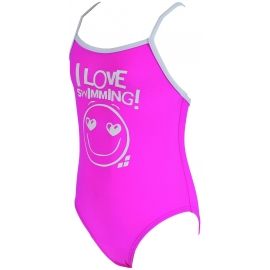 Maillot enfant fille 1 piece ARENA LOVELY KIDS ONE PIECE Rose Pink,White