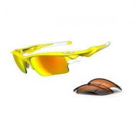 Oakley Fast Jacket XL LEMON PEEL , FIRE IRIDIUM PERSIMMON