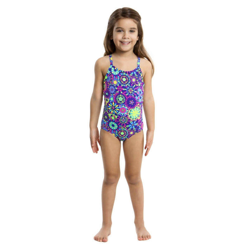 maillot funkita petite fille 1 piece cheslea flower toddler fille les4nages. Black Bedroom Furniture Sets. Home Design Ideas