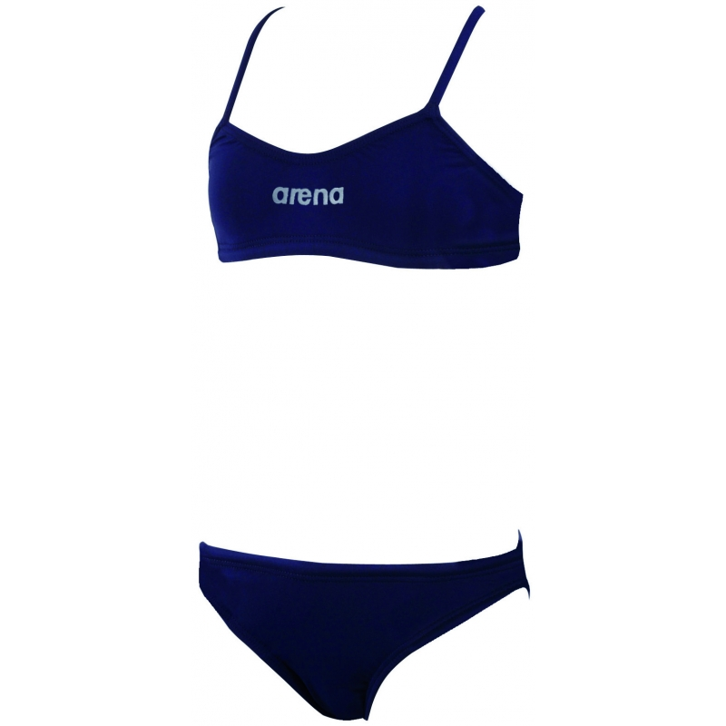 Maillot fille 2 pieces arena lacy youth navy metalic - Maillot piscine 2 pieces ...