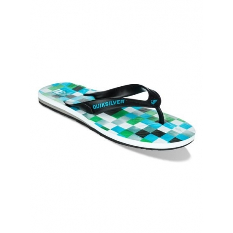 Tongues Quiksilver CARVER MINI DYE White/Blue/Green