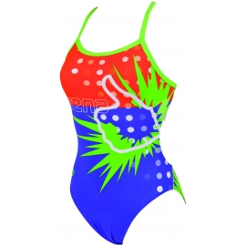 Maillot Femme 1 piece ARENA LIKE ONE PIECE CHALENGE BACK AGATHA VOLET/ENERGY GREEN