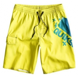 Boardshort QUIKSILVER MTN WAVE LOGO Volley 19 Jaune