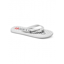 Tongues pour Garçon Quiksilver Java Wordmark GREY/WHITE/GREY