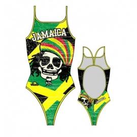 Maillot de bain Femme Turbo Jamaica Skull Vintage Thin Straps