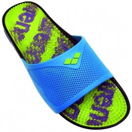 Claquettes Mixte ARENA Marco X Grip Logo Lime/Turquoise