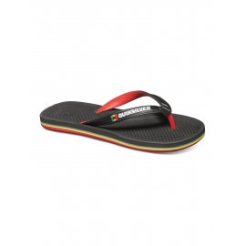 Tongues pour Garçon Quiksilver Haleiwa Black - Red - Yellow