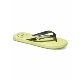 Tongues pour Garçon Quiksilver Java BLACK - YELLOW - YELLOW
