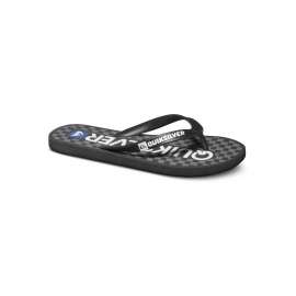 Tongues pour Garçon Quiksilver Java Wordmark Black - grey - white