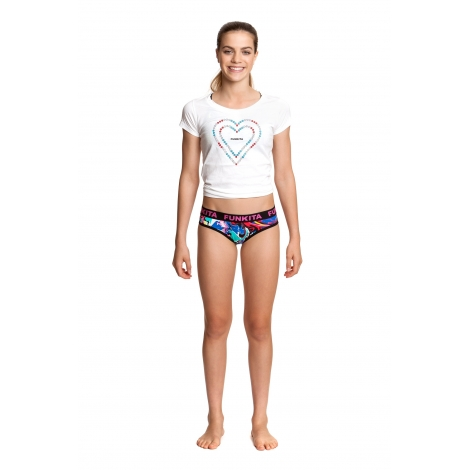 attrayant et durable service durable commander en ligne Sous vetement Fille FUNKITA Splatterfied girls underwear brief