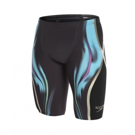 SPEEDO Fatskin LZR Racer X High Waist Jammer - Black Blue Green
