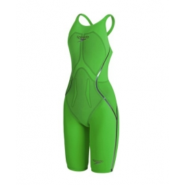 Speedo LZR Racer X Closedback Kneeskin - Fluo Green / Purple