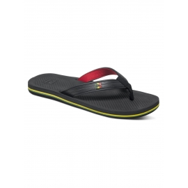 Tongs Quiksilver Haleiwa Deluxe XKR - Black Red Green