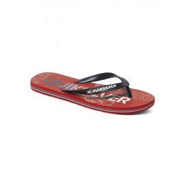 Tongs Juniors Quiksilver Molokai Nitro Youth XKR - Black Red
