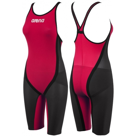 Combinaison Femme ARENA Carbon Flex CLOSED Dark grey, Red, Black