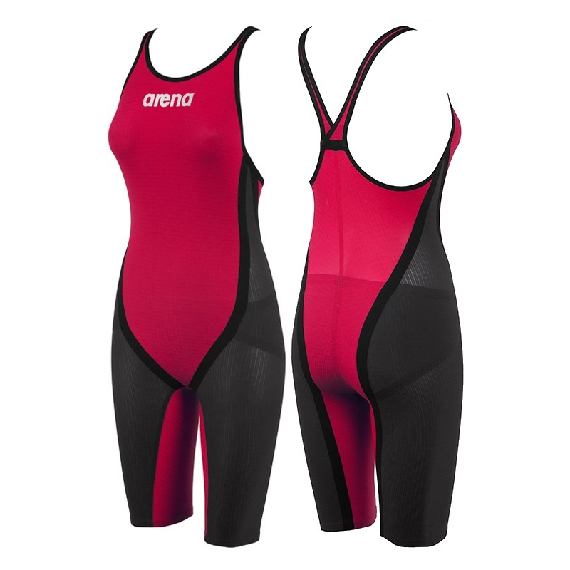 détaillant en ligne 88a10 54bc9 ARENA Carbon Flex CLOSED Dark grey, Red, B...ARENA Carbon Flex CLOSED Dark  grey, Red, Black - Combinaison Natation Femme dos fermé