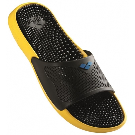 f7f57c9f7dc Claquettes Arena MARCO X GRIP BOX HOOK - Solid Yellow Star  Black  Royal