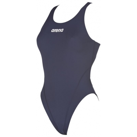Arena SOLID Swim Tech High - Navy White - Maillot Femme Natation