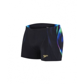 Boxer SPEEDO X Placement Digital V Aquashort - Black green