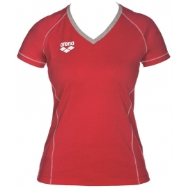 Tee shirt Femme ARENA Team Line SS Tee - Red