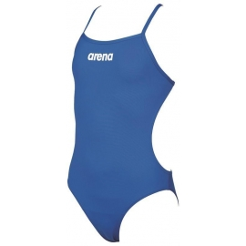 Arena Solid Lightech Junior - Royal White - Maillot Fille Natation