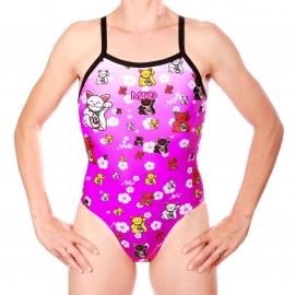MAKO Aumakua Lucky Cat Pink - Maillot Femme Natation