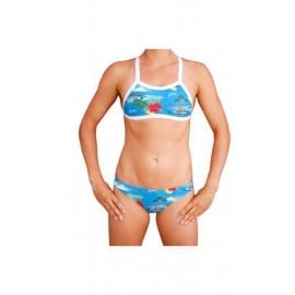 MAKO Hawaïan Blue - Bikini Femme 2 pieces