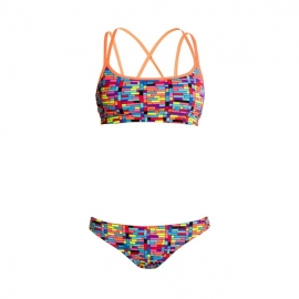 FUNKITA Stacked Up Criss Cross- Maillot 2 pièces Filles