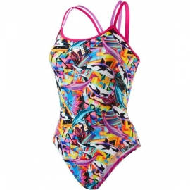 SPEEDO Chappelle O Love - Double Crossback - Electric Pink Orchid