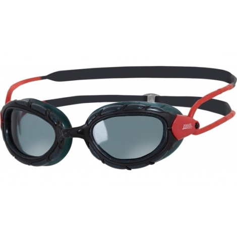 Zoggs Predator Smoked polarized - Black Red Smoke