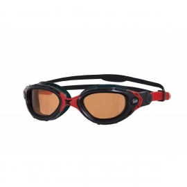 Zoggs Predator Flex Polarized Ultra - Black Red Copper
