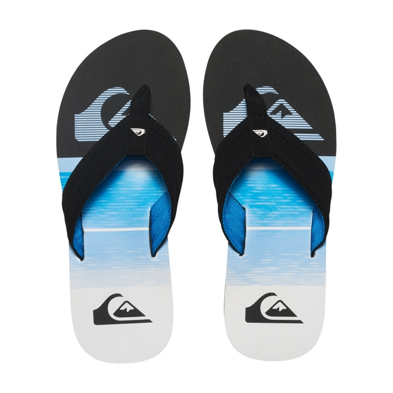 Tongs Quiksilver Basis XKBW - Black Blue White - les4nages cfef6e50d386