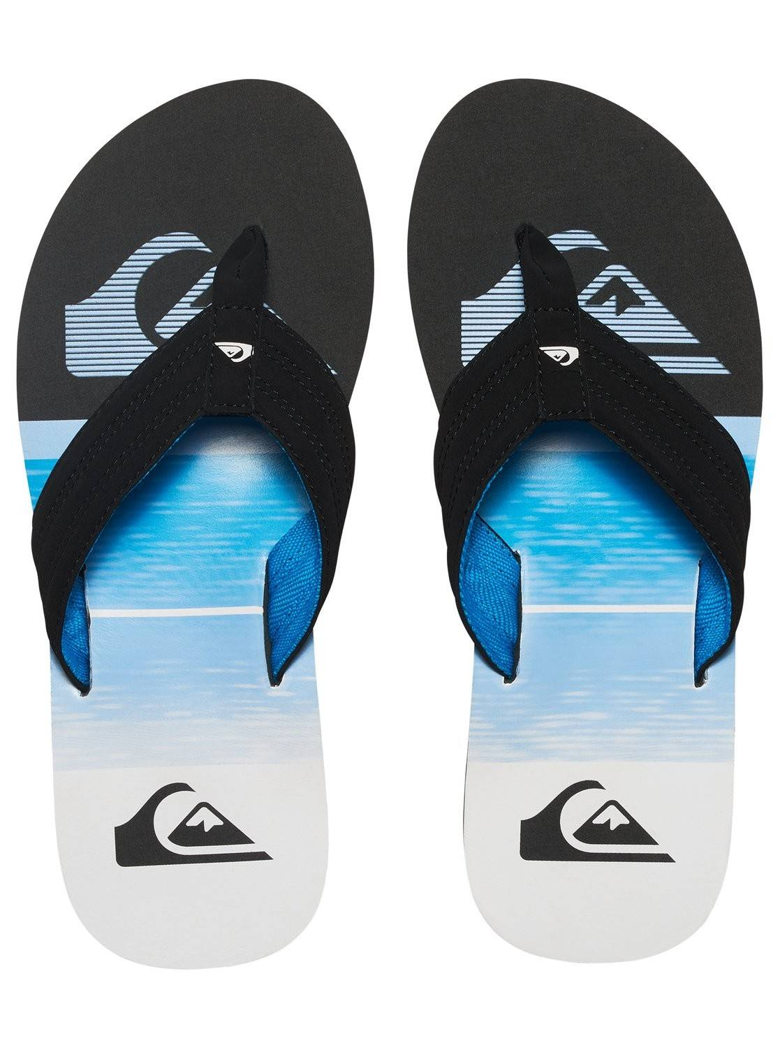 Tongs quiksilver basis xkbw black blue white les4nages