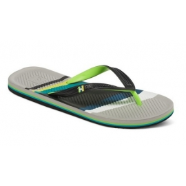 Tongues Quiksilver Haleiwa Print Black/Grey/Green