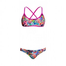 Maillot fille 2 pieces FUNKITA Blossom Paradise Criss Cross Two pièces