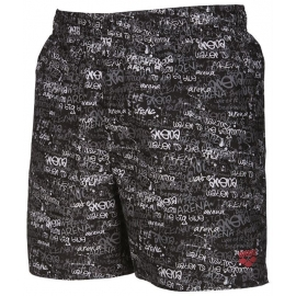 Beachshort ARENA Boxer Black Red