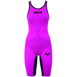 ARENA Carbon Air Closed Fuchsia Titanium BARENA Carbon Air Closed Fuchsia Titanium Blue Combinaison Natation Femme dos fermé