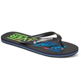 Tongs Quiksilver Junior Molokai Woodmark Youth XBR Black Blue Red