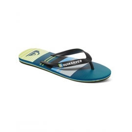 Tongs Quiksilver Molokai Everyday Strip XKGS Black Green Grey