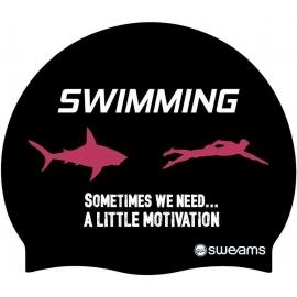 Bonnet SWEAMS Shark Motivation - Red White