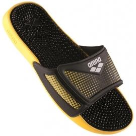 ARENA Marco Velcro Hook - Yellow Black - Claquettes Piscine