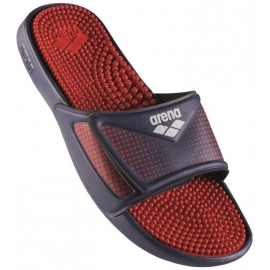 ARENA Marco Velcro Hook - YNavy Red - Claquettes Piscine