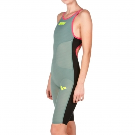 ARENA Carbon Air Open Back - Dos Ouvert - Dark Green Fluo Red