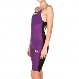 ARENA Carbon Air Open Back - Dos Ouvert - Plum Fluo Yellow